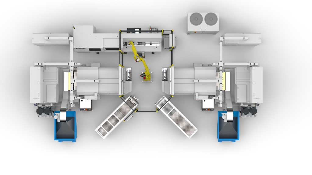 vortakt automation cell - overhead view